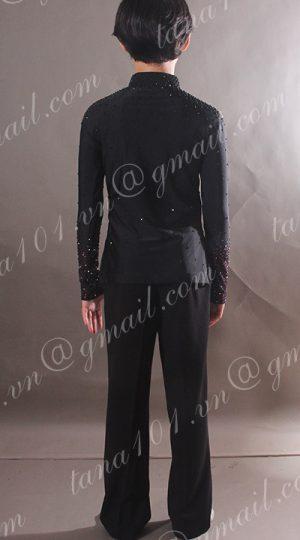 quần áo khiêu vũ bé trai đen