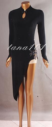 Váy khiêu vũ latin đen
