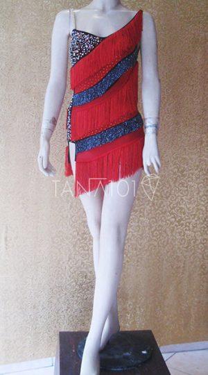 Váy nhảy latin đỏ tua
