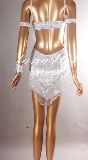 Váy khiêu vũ latin cườm bạc