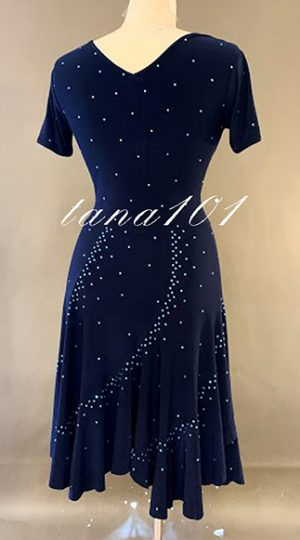 Váy nhảy latin màu xanh dương
