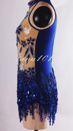 váy khiêu vũ xanh dương