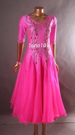 váy khiêu vũ hồng