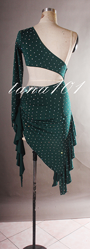 Váy khiêu vũ latin xanh lá