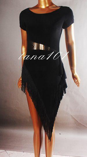 Váy latin đen tua sợi