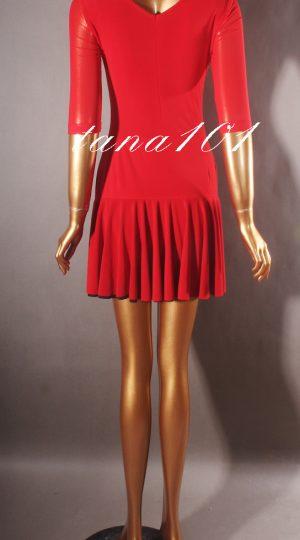 váy tập nhảy đỏ