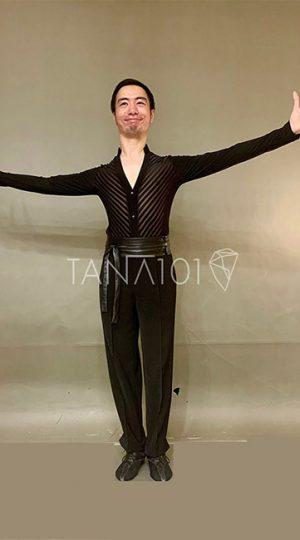 Áo nhảy nam màu đen
