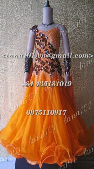 Váy bé gái màu cam