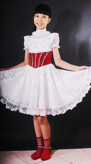 váy bé gái trắng ren