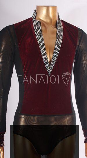 Áo latin đỏ đen