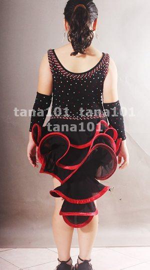 váy latin bé gái đen