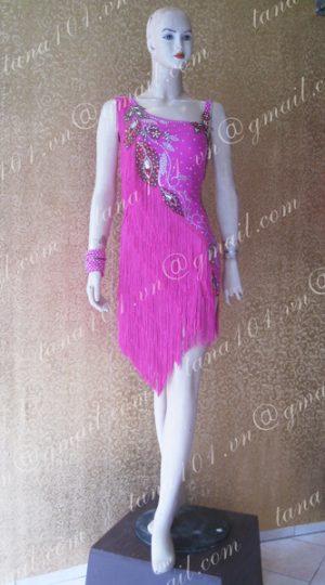 Váy latin hồng