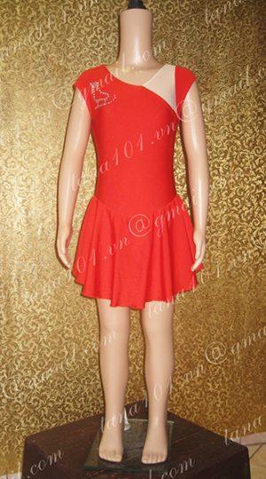 Váy latin bé gái đỏ