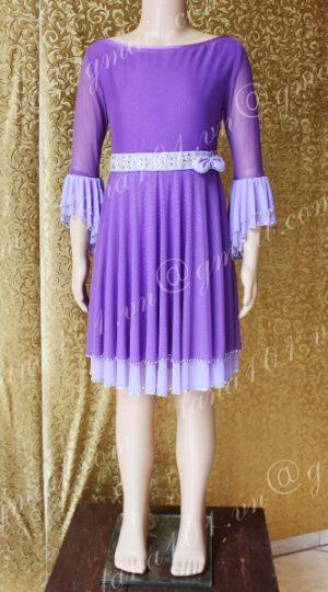Váy latin bé gái tím