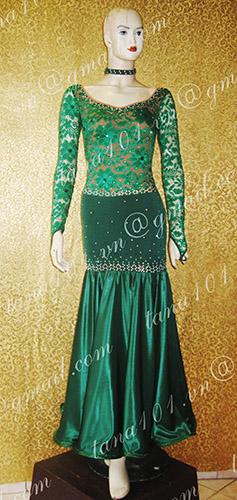Váy standard xanh lá cây