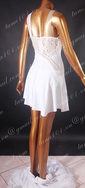 Váy latin trắng