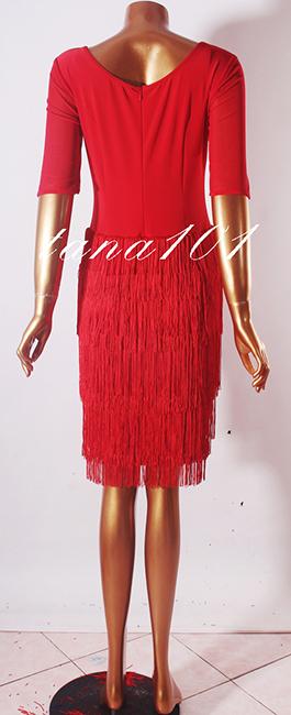 Váy tập nhảy latin màu đỏ